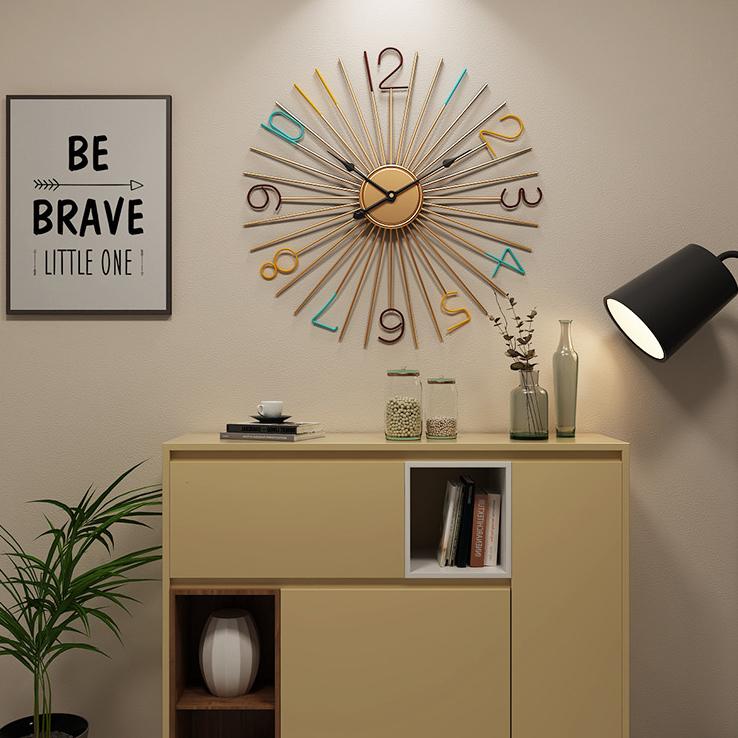 Đồng hồ treo tường hiện đại thiết kế độc đáo đầy ấn tượng BS5568