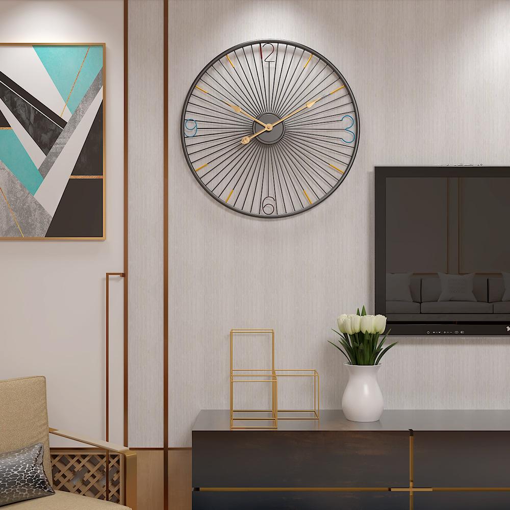 Đồng hồ treo tường hiện đại thiết kế độc đáo đầy ấn tượng BS666889 size 50cm