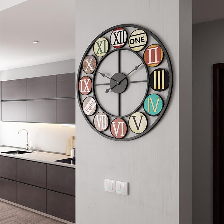 Đồng hồ treo tường nghệ thuật cách điệu BS6888BL