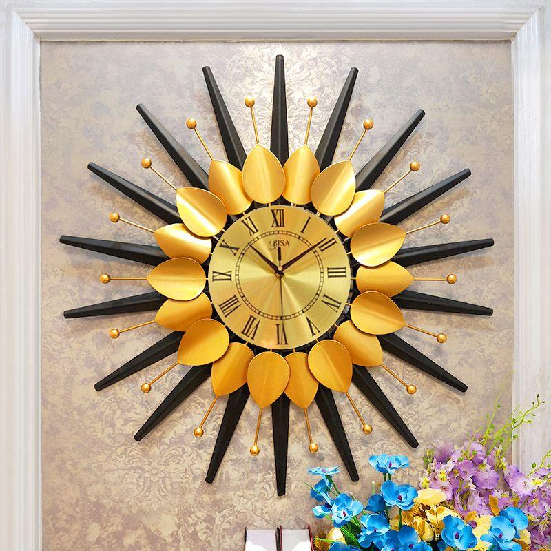 Đồng hồ treo tường thiết kế sang trọng hiện đại cho không gian thêm ấn tượng LM6654-75YL