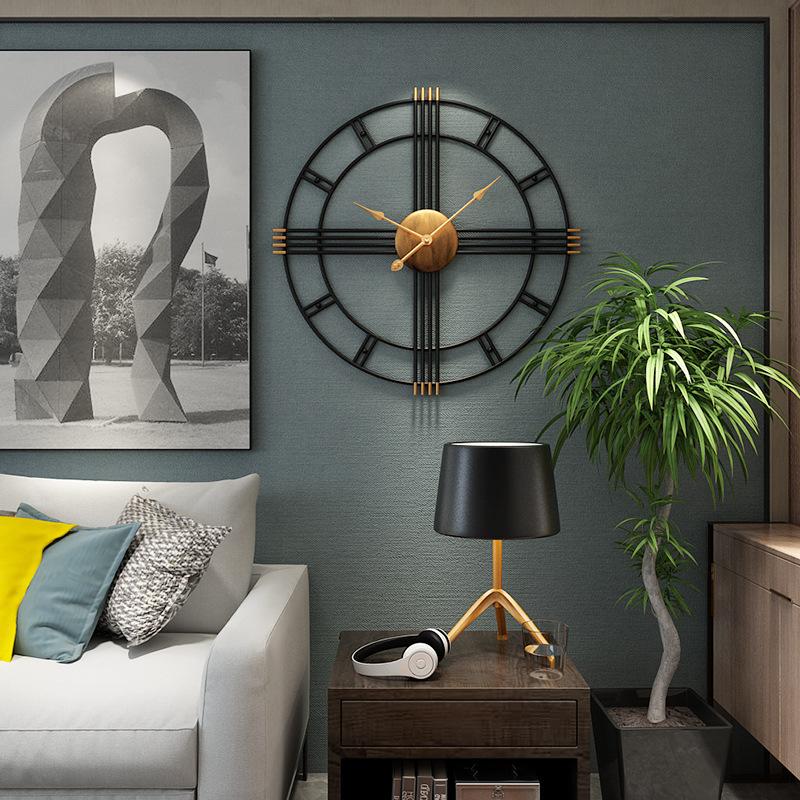 Đồng hồ treo tường nghệ thuật cách điệu cho không gian thêm ấn tượng BS6668899