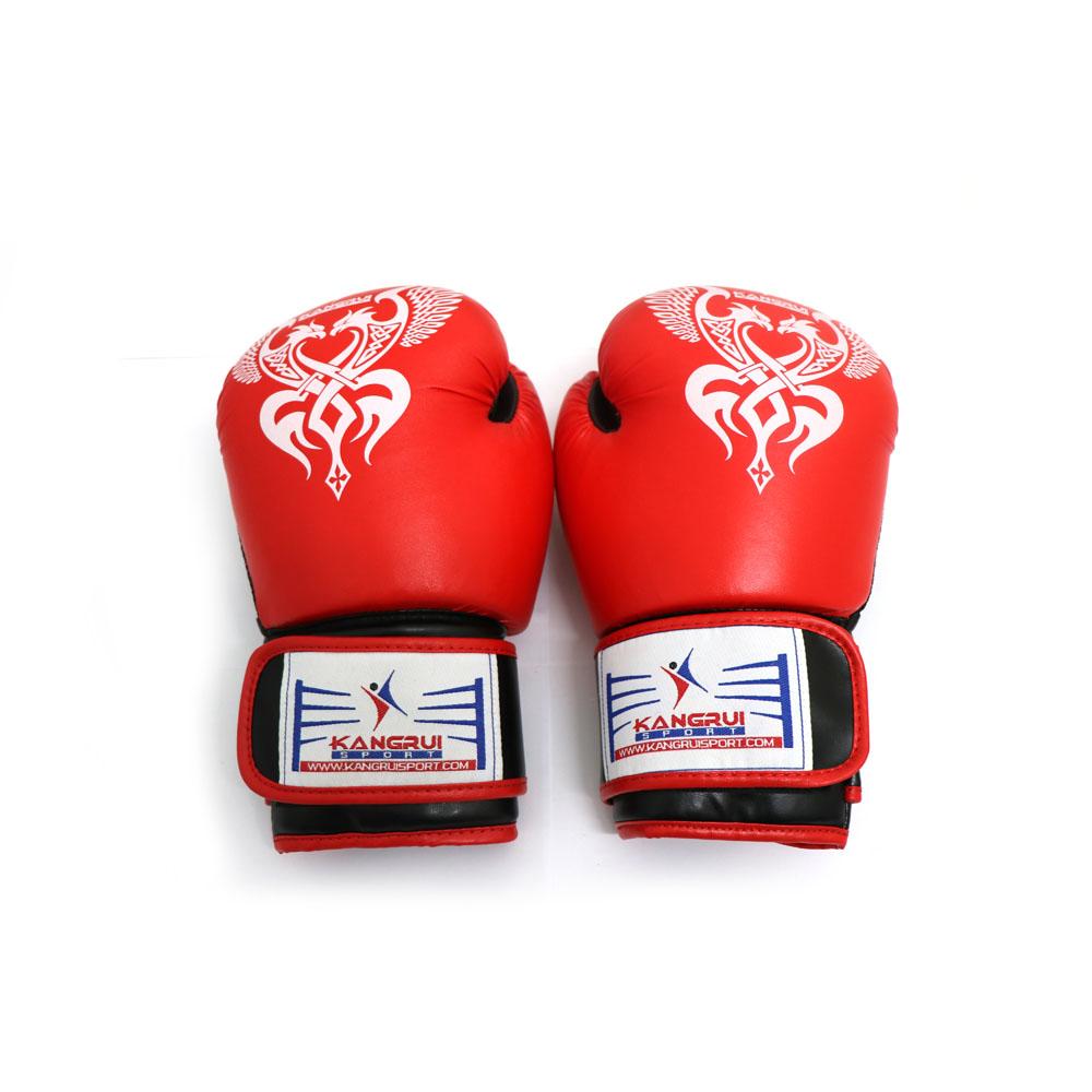 Găng Tay Đấm Boxing Cao Cấp - Màu Đỏ - Kangrui