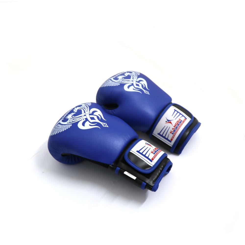 Găng Tay Đấm Boxing Cao Cấp - Màu Xanh - Kangrui