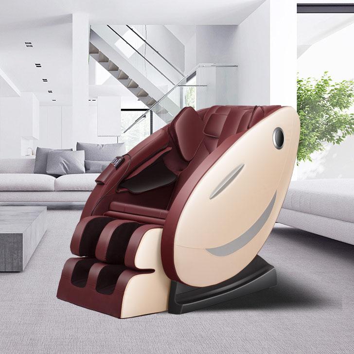 Ghế massage tự động cho toàn thân hoàn toàn thư giãn và sảng khoái 8002 màu nâu