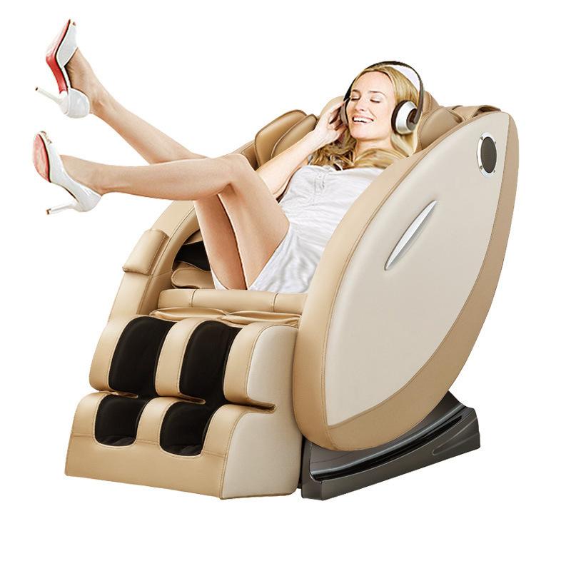 Ghế massage tự động cho toàn thân hoàn toàn thư giãn và sảng khoái 8008 màu vàng