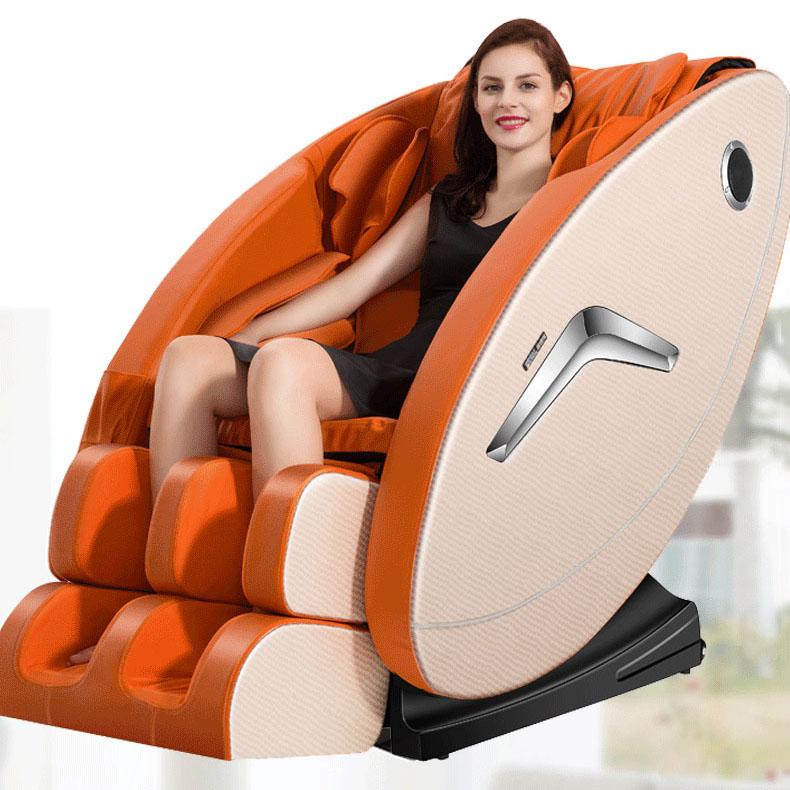 Ghế massage tự động cho toàn thân hoàn toàn thư giãn và sảng khoái 9900 màu cam