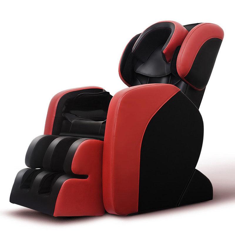 Ghế massage tự động cho toàn thân hoàn toàn thư giãn và sảng khoái E55 màu đỏ