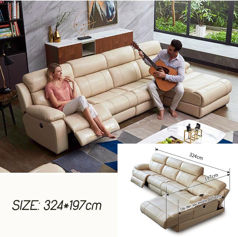 Ghế sofa massage đa chức năng hiện đại R835 size 324cm