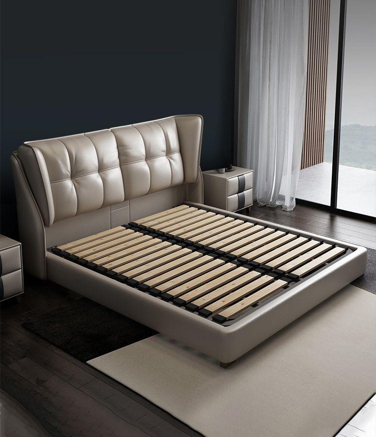 Giường da Bắc Âu cho phòng ngủ hiện đại và sang trọng hơn kèm không nệm cao su 886