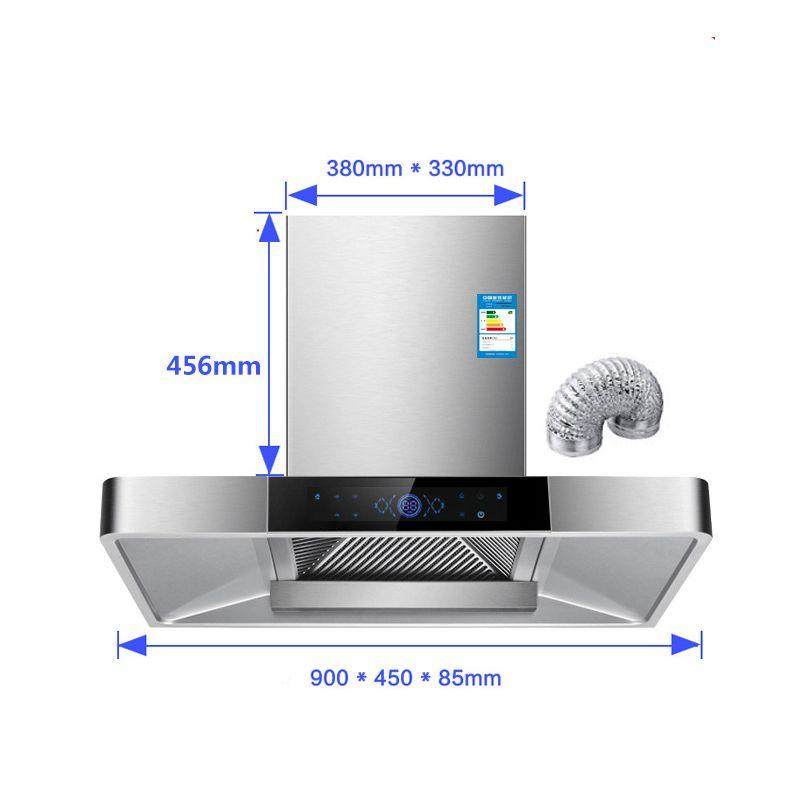 Máy hút mùi bếp kiểu dáng hiện đại cảm cấu hình cao 32 khối + làm sạch
