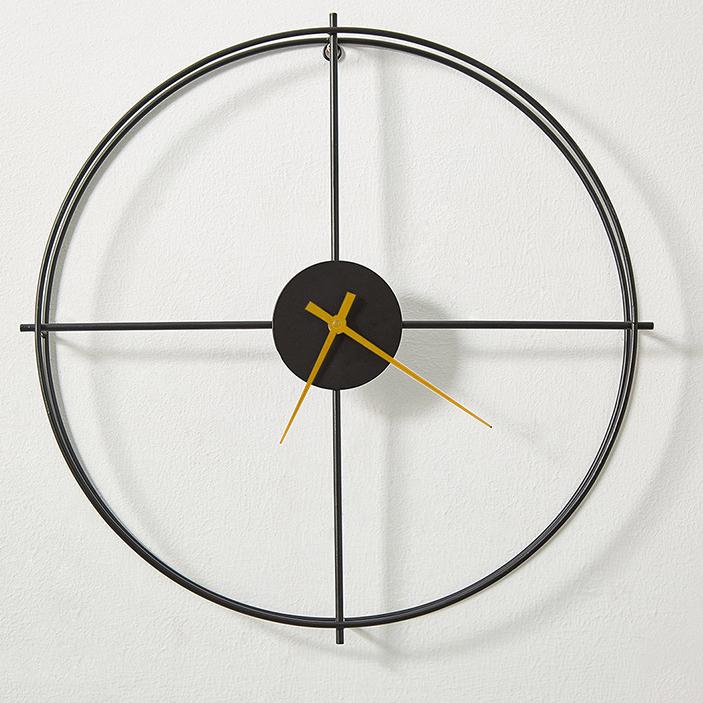 Đồng hồ treo tường trang trí phong cách Bắc Âu ấn tượng A053 màu đen