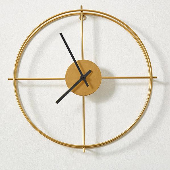 Đồng hồ treo tường trang trí phong cách Bắc Âu ấn tượng A053 màu vàng