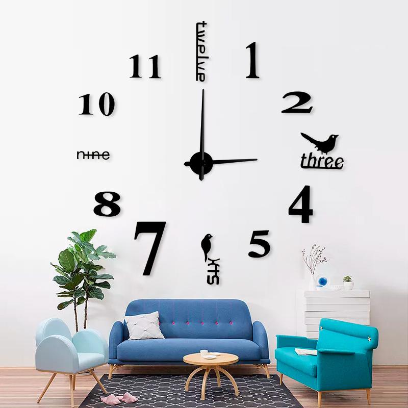 Đồng hồ dán tường phong cách Châu Âu hiện đại TG003-130 kiểu mới
