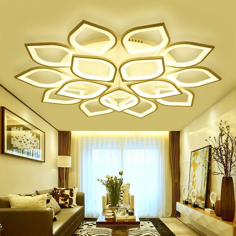 Đèn LED ốp trần phòng khách thiết kế hiện đại sáng tạo đầy ấn tượng YKL-083 màu vàng