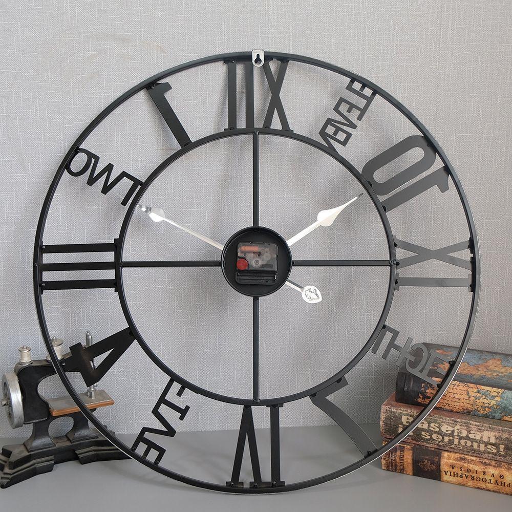 Đồng hồ trang trí thiết kế ấn tượng 2056 màu đen
