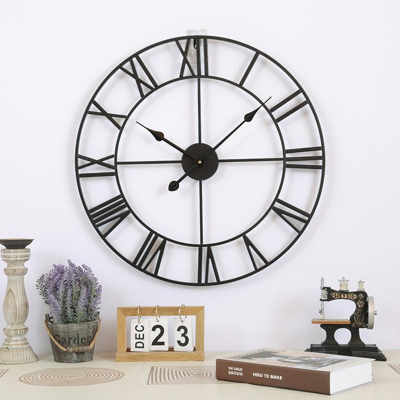 Đồng hồ treo tường trang trí phong cách Bắc Âu ấn tượng A94 màu đen