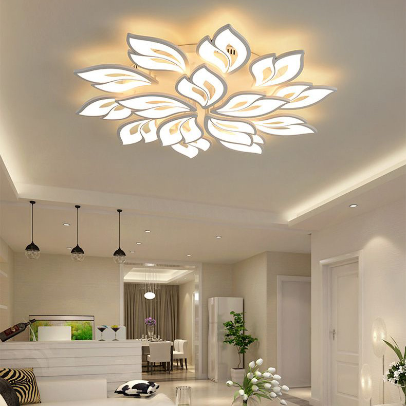 Đèn LED ốp trần phòng khách thiết kế hiện đại sáng tạo đầy ấn tượng X191120