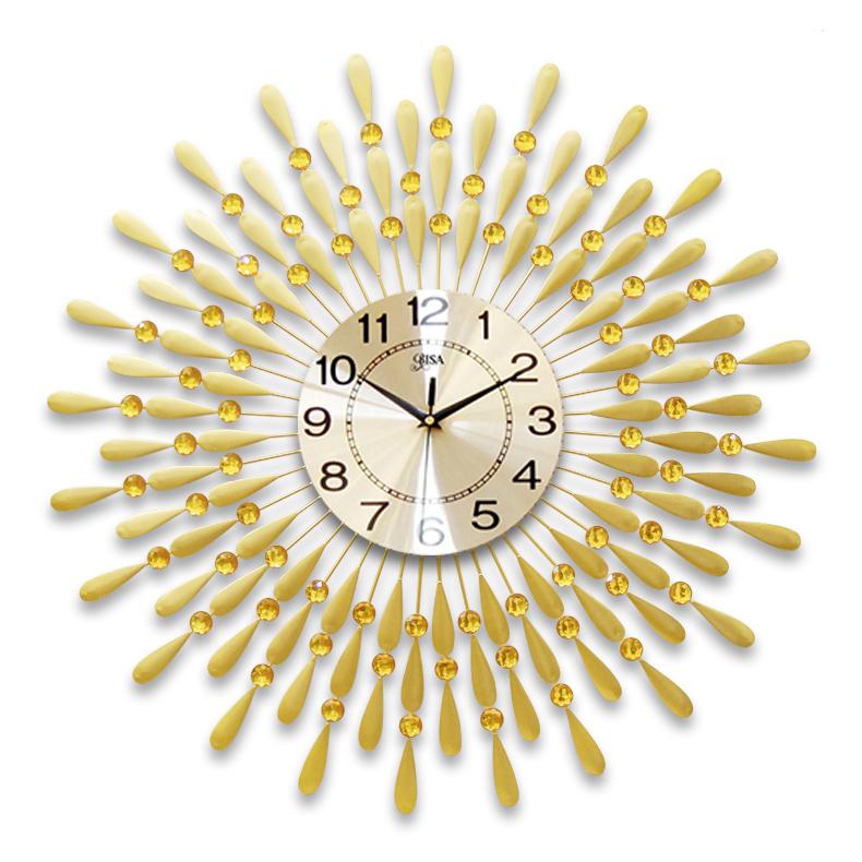 Đồng hồ treo tường hình chiếc lá và giọt sương  sẽ là điểm nhấn đặc biệt cho không gian nhà bạn BS8178C-70