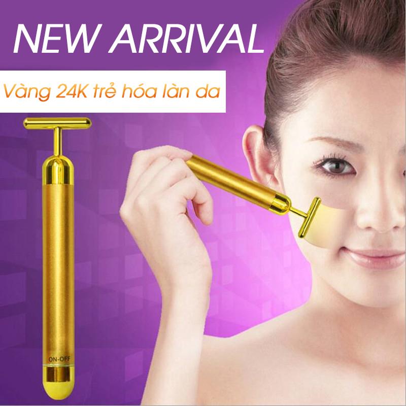 Thanh massage mạ vàng 24K trẻ hóa làn da và tạo hình khuôn mặt vline hiệu quả MS24K
