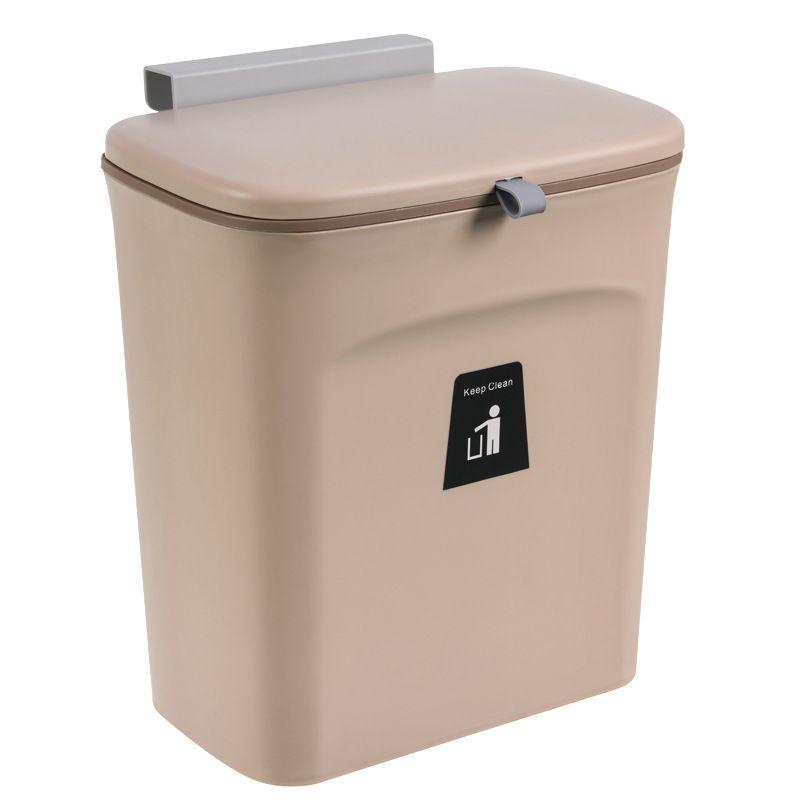 Thùng rác treo nhà bếp tiện lợi YT0117 màu nâu
