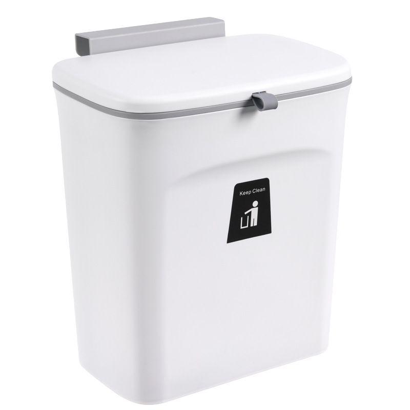 Thùng rác treo nhà bếp tiện lợi YT0117 màu trắng
