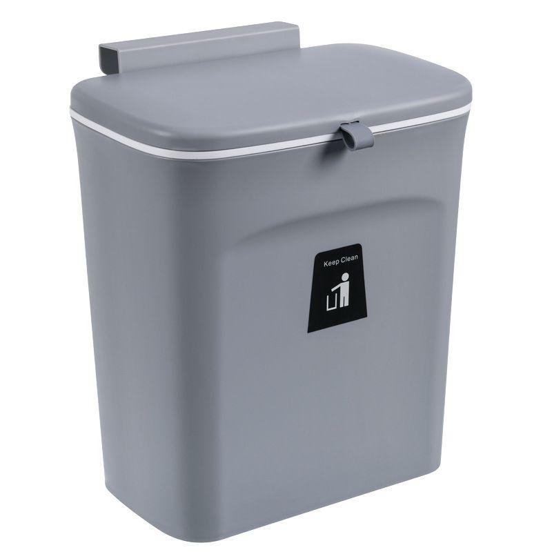 Thùng rác treo nhà bếp tiện lợi YT0117 màu xám