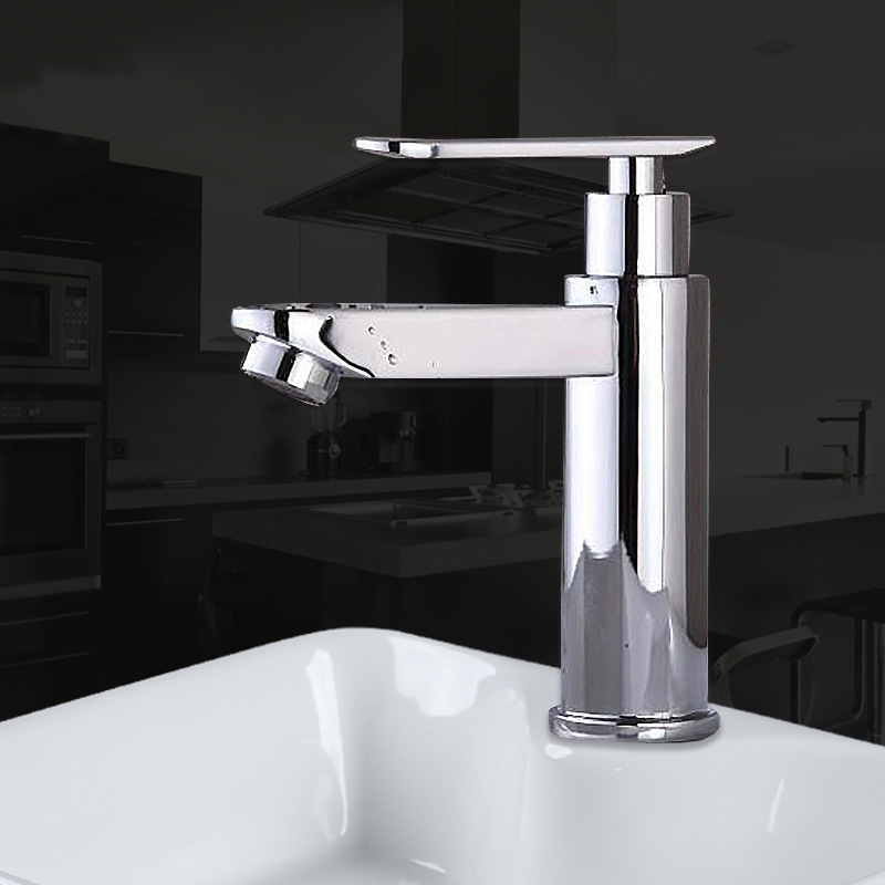 Vòi chậu rửa mặt lạnh thiết kế hiện đại ấn tượng YF-5206 trụ tròn