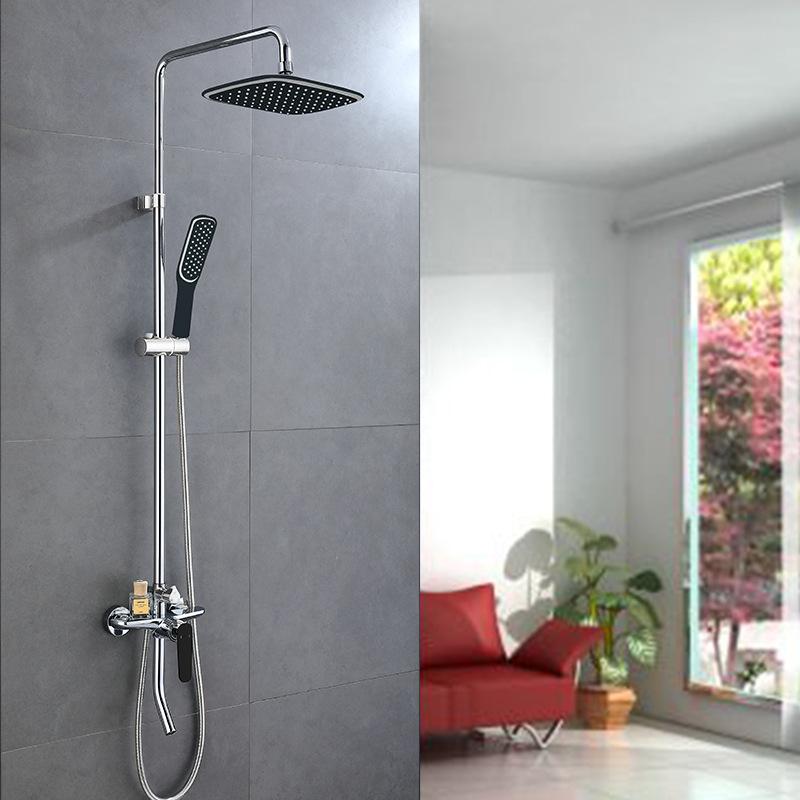 Vòi sen tắm đa chức năng thông minh cho phòng tắm hiện đại YF5301 màu đen mix trắng