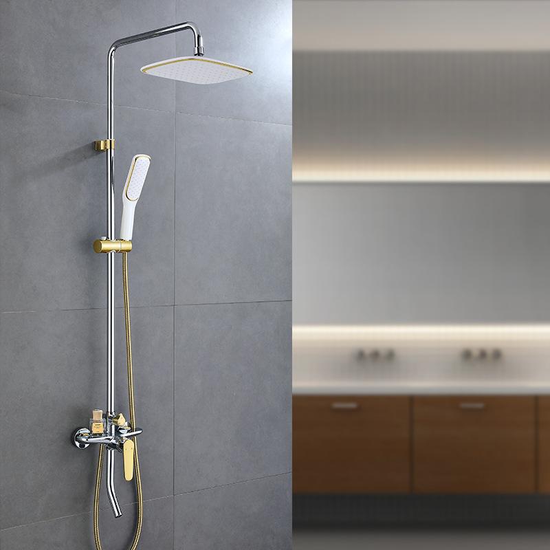 Vòi sen tắm đa chức năng thông minh cho phòng tắm hiện đại YF5301 màu vàng mix trắng