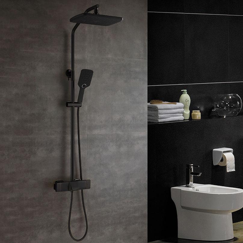 Vòi sen tắm đa chức năng thông minh cho phòng tắm hiện đại YF5303 màu đen