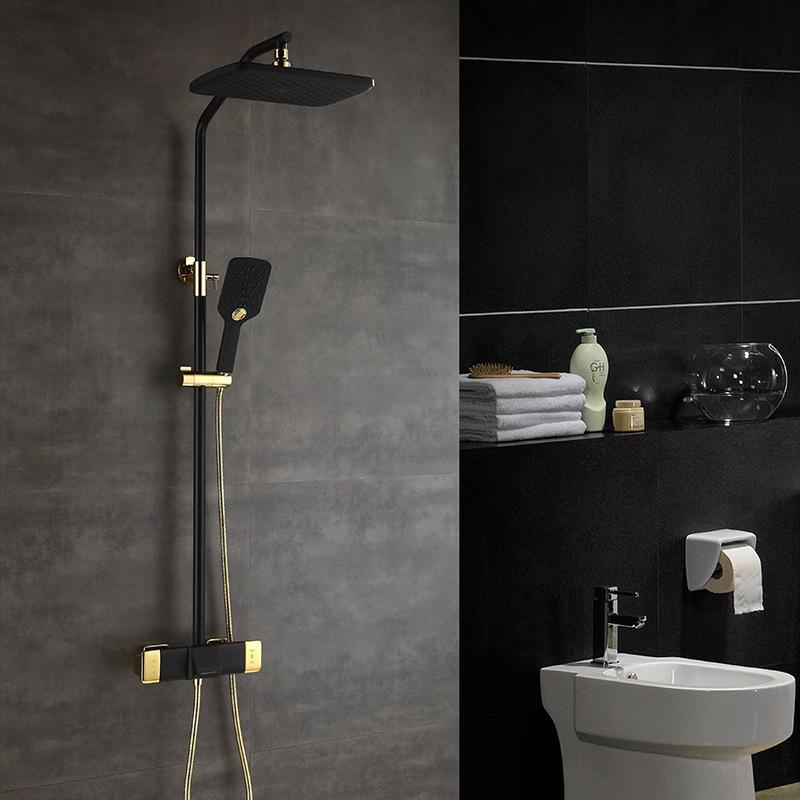 Vòi sen tắm đa chức năng thông minh cho phòng tắm hiện đại YF5303 màu vàng đen