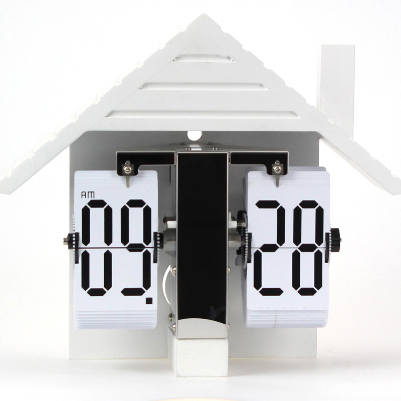 Đồng Hồ để bàn lật giờ tự động thiết kế ngôi nhà độc đáo HY-F058