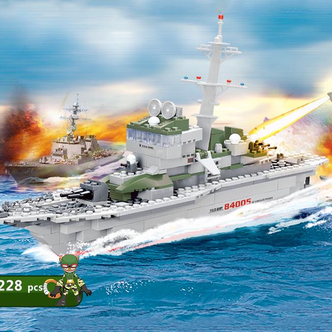 Bộ LEGO chiến hạm hải quân cho trẻ khám phá JJ002938
