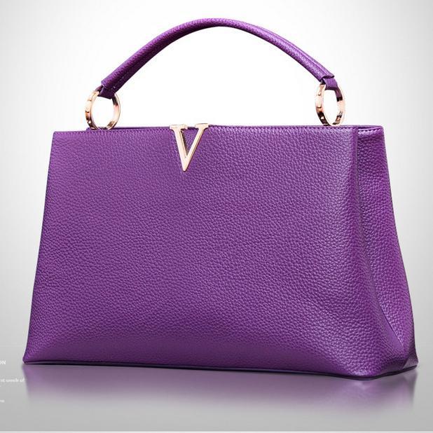 Túi nữ chữ V phong cách châu âu da bò thật 100% bảo hành 2 năm. càng dùng da càng đẹp