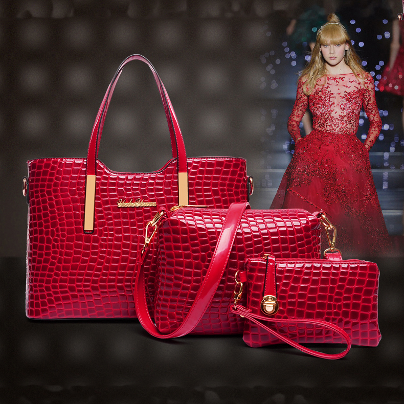 Bộ túi xách nữ da cá sấu thời trang quý phái tôn lên nét đẹp duyên dáng