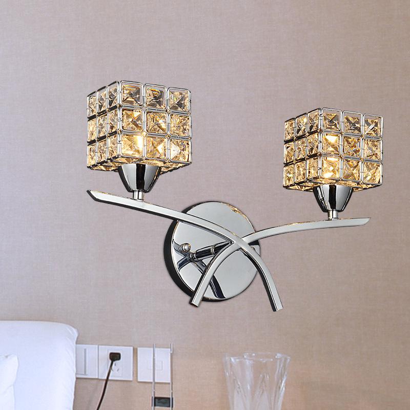 Đèn gắn tường pha lê thiết kế khối vuông theo phong cách hiện đại FRHA-B4