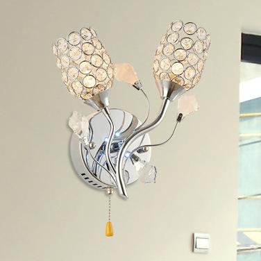 Đèn gắn tường pha lê cách điệu hình 2 bông hoa FRHA-B56