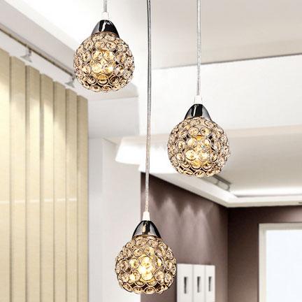 Đèn thả trần phòng ăn bằng pha lê nổi bật không gian hiện đại FRHC-110