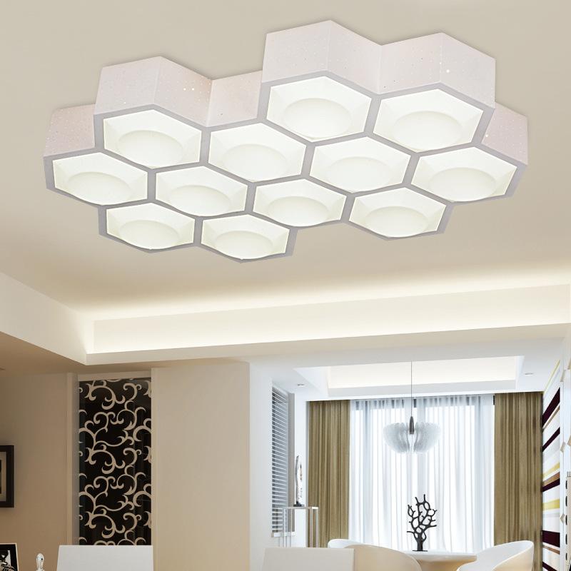 Đèn LED ốp trần thiết kế kiểu dáng khối đa giác phong cách hiện đại ấn tượng XD-72W