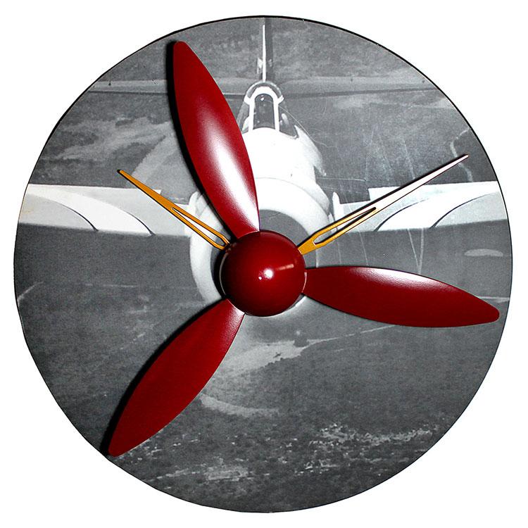 Đồng hồ trang trí thiết kế cánh quạt máy bay thật độc đáo và cá tính cho không gian hiện đại HY-G052