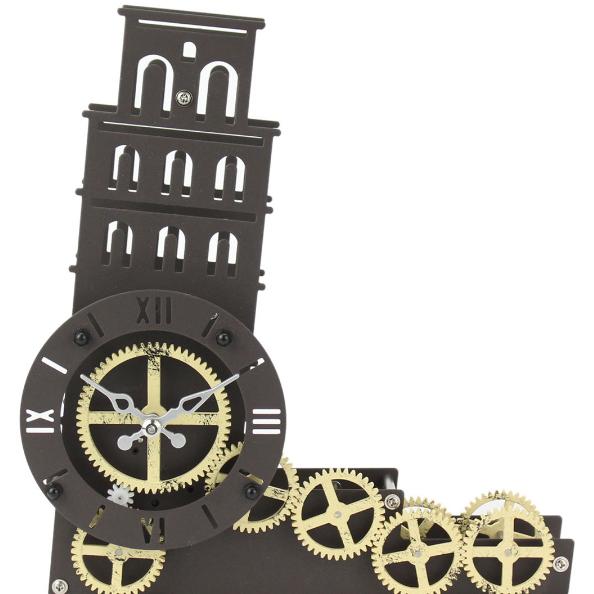 Đồng hồ để Bàn mô hình tháp nghiêng Pisa của Ý -  độc đáo, lạ mắt HY-G117