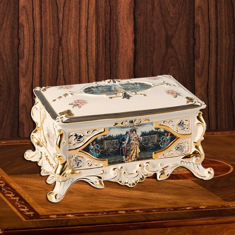 Hộp đựng giấy ăn phong cách hoàng gia vô cùng ấn tượng bảo hành 5 năm JDA491