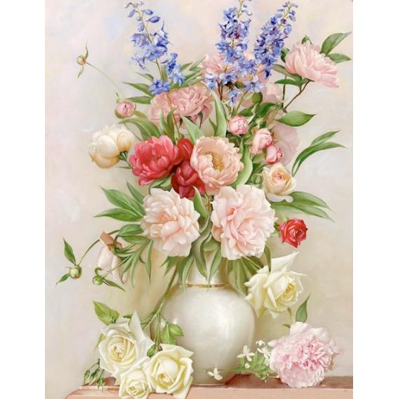 Tranh đính đá mẫu hoa CAN12980