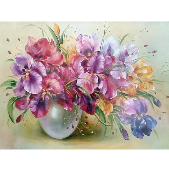 Tranh đính đá mẫu hoa CAN13399