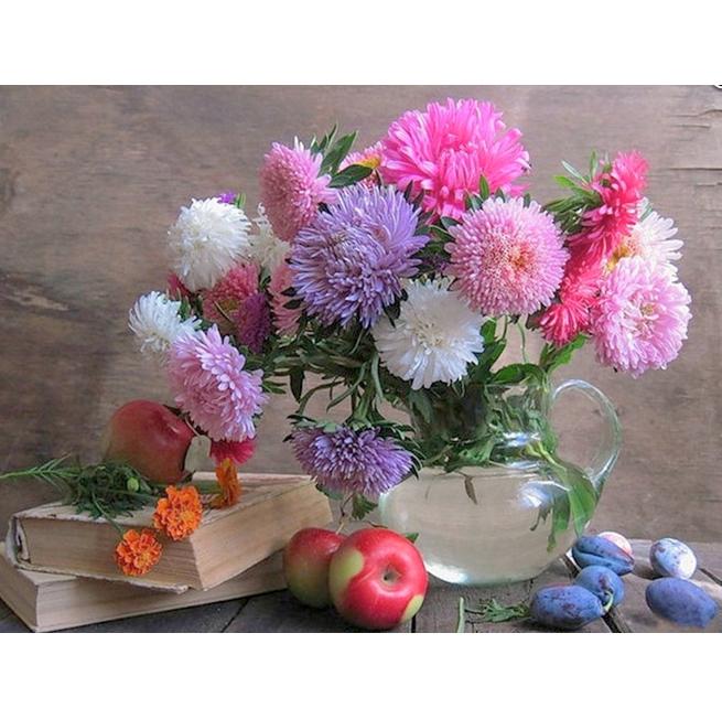 Tranh đính đá mẫu hoa XING7147