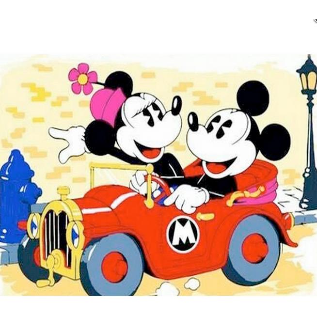 Tranh gắn đá Đôi Chuột Mickey cho không gian thêm ngộ nghĩnh