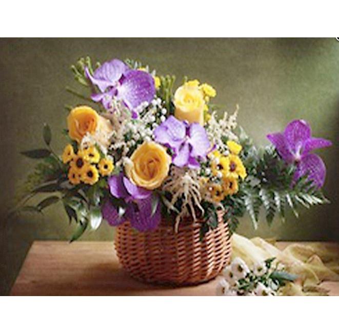 Tranh đính đá mẫu hoa XING7553