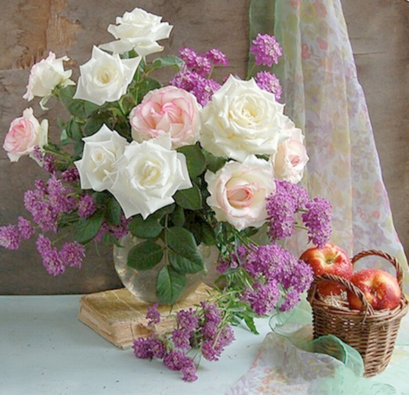 Tranh đính đá mẫu hoa hồng XING7684