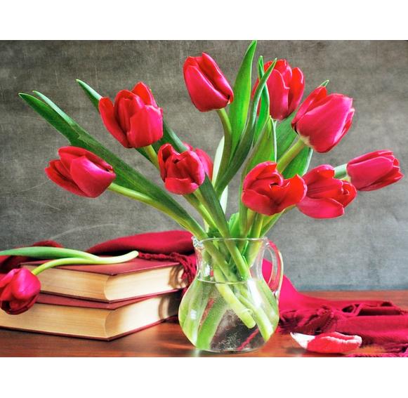 Tranh đính đá mẫu hoa XING7700