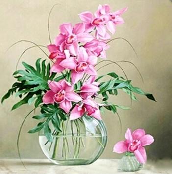 Tranh gắn đá mẫu hoa XING7863